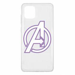 Чехол для Samsung Note 10 Lite Avengers and simple logo