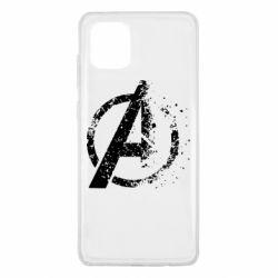 Чехол для Samsung Note 10 Lite Avengers logotype destruction