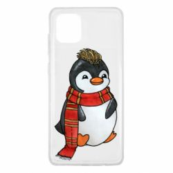 Чохол для Samsung Note 10 Lite Baby penguin with a scarf