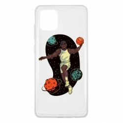 Чехол для Samsung Note 10 Lite Basketball player and space