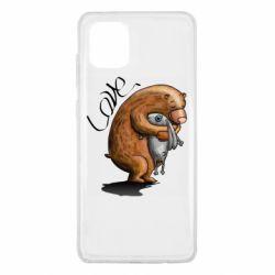 Чехол для Samsung Note 10 Lite Bear hugs a hare