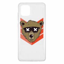 Чехол для Samsung Note 10 Lite Bear with glasses