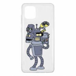 Чехол для Samsung Note 10 Lite Bender and the heads of robots