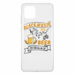 Чехол для Samsung Note 10 Lite Black music and bear you can call me sir