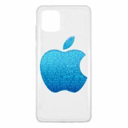 Чехол для Samsung Note 10 Lite Blue Apple
