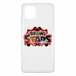 Чехол для Samsung Note 10 Lite Brawl stars logo red pattern