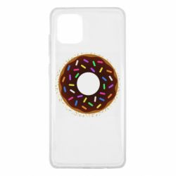 Чохол для Samsung Note 10 Lite Brown donut on a background of patterns