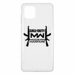Чехол для Samsung Note 10 Lite Call of debt MW logo and Kalashnikov