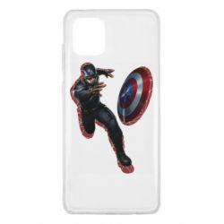 Чехол для Samsung Note 10 Lite Captain america with red shadow