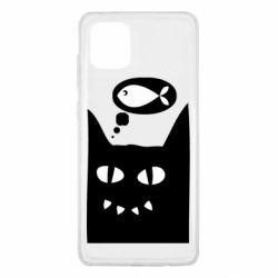 Чехол для Samsung Note 10 Lite Cat dreams of a fish