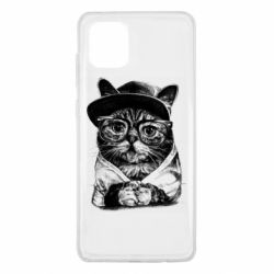 Чохол для Samsung Note 10 Lite Cat in glasses and a cap