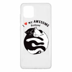 Чехол для Samsung Note 10 Lite Cats and love