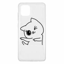 Чехол для Samsung Note 10 Lite Cheerful kitten