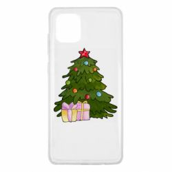 Чехол для Samsung Note 10 Lite Christmas tree and gifts art