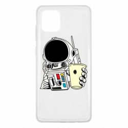 Чехол для Samsung Note 10 Lite Cosmonaut with a coffee
