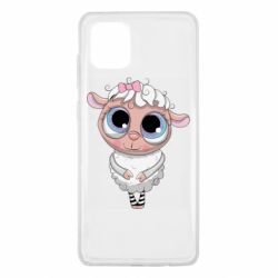 Чехол для Samsung Note 10 Lite Cute lamb with big eyes