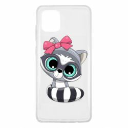 Чехол для Samsung Note 10 Lite Cute raccoon