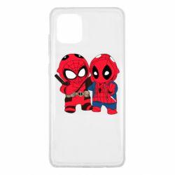 Чехол для Samsung Note 10 Lite Дэдпул и Человек паук