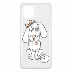 Чехол для Samsung Note 10 Lite Dog with a bow
