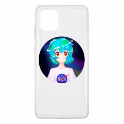 Чохол для Samsung Note 10 Lite Earth-chan in a T-shirt with a Nasa logo