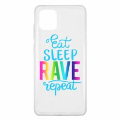 Чохол для Samsung Note 10 Lite Eat, sleep, RAVE, repeat