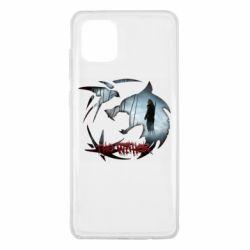 Чехол для Samsung Note 10 Lite Emblem wolf and text The Witcher