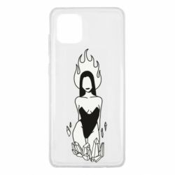 Чехол для Samsung Note 10 Lite Faceless girl with crystals