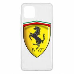 Чехол для Samsung Note 10 Lite Ferrari 3D Logo