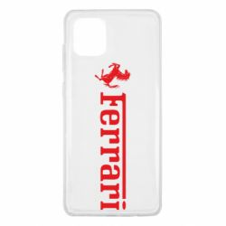 Чехол для Samsung Note 10 Lite Ferrari