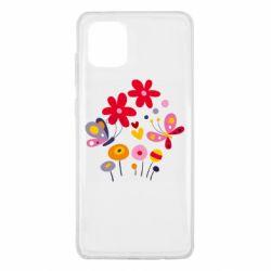 Чехол для Samsung Note 10 Lite Flowers and Butterflies