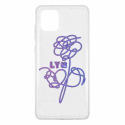 Чехол для Samsung Note 10 Lite Flowers line bts