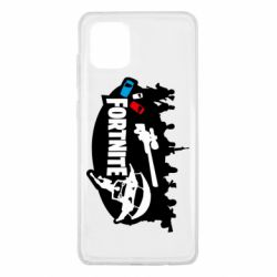 Чехол для Samsung Note 10 Lite Fortnite logo and heroes