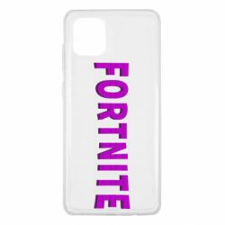 Чехол для Samsung Note 10 Lite Fortnite purple logo text