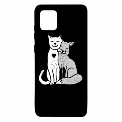 Чохол для Samsung Note 10 Lite Fox and cat heart