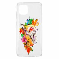 Чехол для Samsung Note 10 Lite Fox in autumn leaves