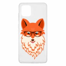 Чехол для Samsung Note 10 Lite Fox with a mole in the form of a heart
