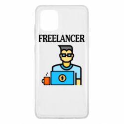 Чехол для Samsung Note 10 Lite Freelancer text