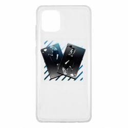 Чехол для Samsung Note 10 Lite Gambling Cards The Witcher and Cyrilla