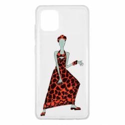 Чехол для Samsung Note 10 Lite Girl in a dress without a face