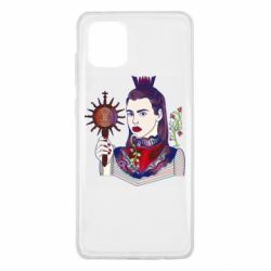Чехол для Samsung Note 10 Lite Girl with a crown and a flower on a beard