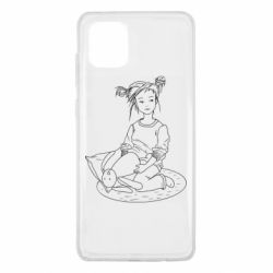 Чехол для Samsung Note 10 Lite Girl with a toy bunny