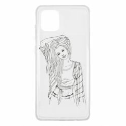 Чехол для Samsung Note 10 Lite Girl with dreadlocks