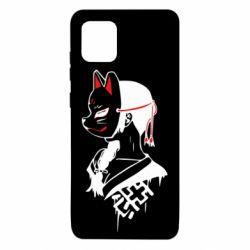 Чехол для Samsung Note 10 Lite Girl with kitsune mask