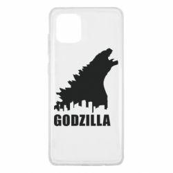 Чохол для Samsung Note 10 Lite Godzilla and city