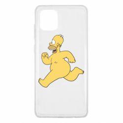 Чехол для Samsung Note 10 Lite Голый Гомер Симпсон