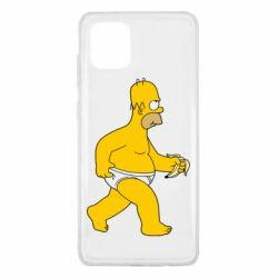 Чехол для Samsung Note 10 Lite Гомер Симпсон в трусиках