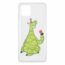 Чехол для Samsung Note 10 Lite Green llama with a garland