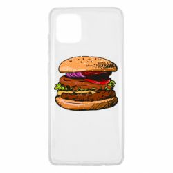 Чехол для Samsung Note 10 Lite Hamburger hand drawn vector