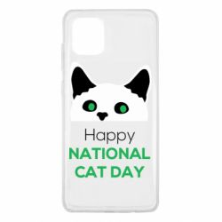 Чехол для Samsung Note 10 Lite Happy National Cat Day