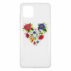 Чехол для Samsung Note 10 Lite Heart made of flowers vector
